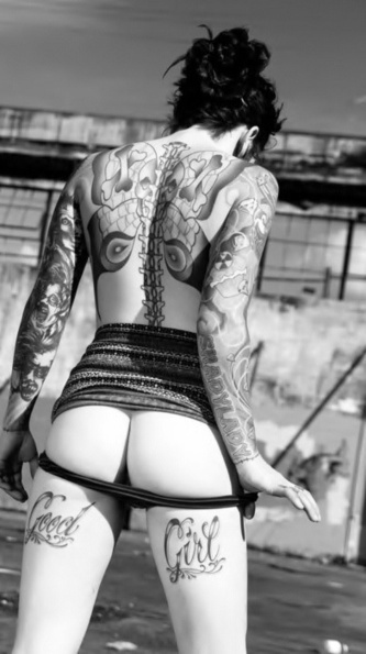 "Inked Girls Gallery 135 - With The Alley Dukes' ""She Gave Me An Itch"" 