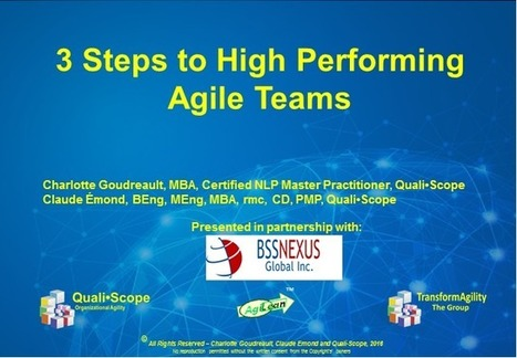 WEBINAR - A 3-step agile approach to mobilize, engage and develop high-performing teams | Thriving or Dying in the Project Age | Scoop.it
