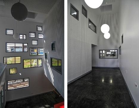 A Cayenne, la bibliothèque universitaire entre ombre et lumière   Détails d'Architecture   Architecture et aménagement en bibliothèque   Scoop.it