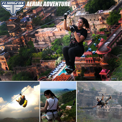 Adventure Spot at Neemrana Fort | Most Adventurous Aerial tour in India with Flying Fox | Scoop.it