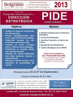 PIDE - Posgrado Internacional en Dirección Estratégica | Dirección Estratégica | Scoop.it