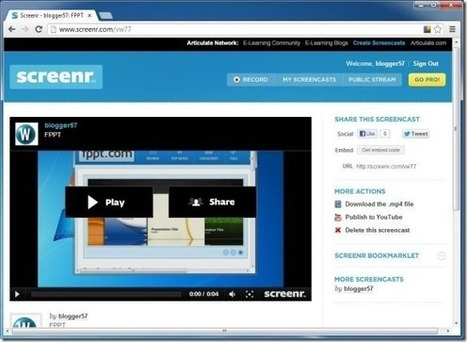 Screenr: Record Online Screencasts And Publish Them To YouTube | Linguagem Virtual | Scoop.it