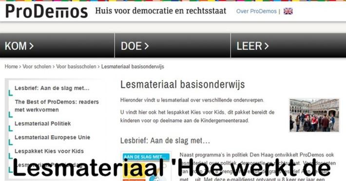 Edu-Curator: Lesmateriaal 'Hoe werkt de Nederlandse democratie?' | Edu-Curator | Scoop.it
