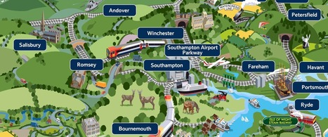Whimsical Map of Things to See and Do in Southwest England by Train | Best of Britain | Scoop.it