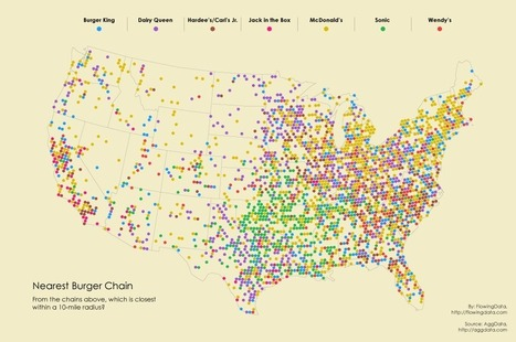 USA : Burger Place Geography | Journalisme graphique | Scoop.it