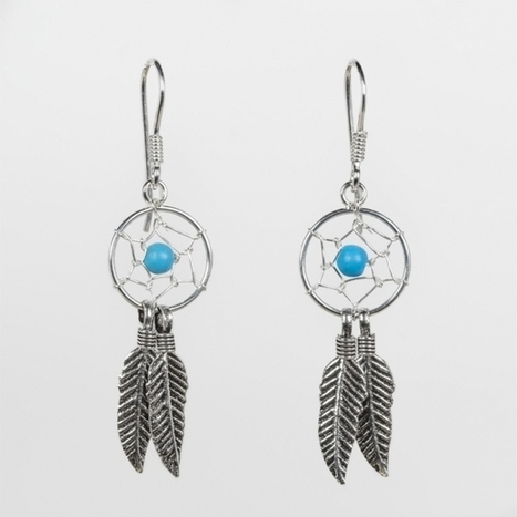 Boucles d'oreille dreamcatcher argent 925 | Bijoux fantaisie Lady Coclico | Scoop.it