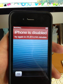 A serious problem IPhone Disabled! Connect To ITunes | iPhone Disabled Problems & Solutions | Scoop.it