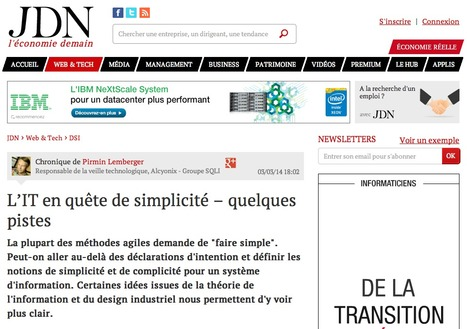 L'IT en quête de simplicité – quelques pistes | Agile | Scoop.it