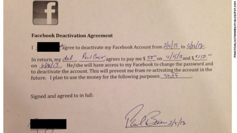Dad pays daughter $200 to quit Facebook | READ WHAT I READ | Scoop.it