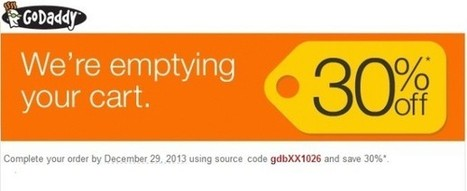 Godaddy SAVE 30% off your order in December 2013 !   Coupon-codes.info   GoDaddy promo coupon codes for domain, hosting or renewal, never expires   Scoop.it