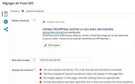 Yoast SEO : Le guide complet pour optimiser votre site | Worpress & co | Scoop.it