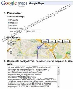 Insertar mapa de Google en blog o web | Noticias informatica by josem2112 | Scoop.it