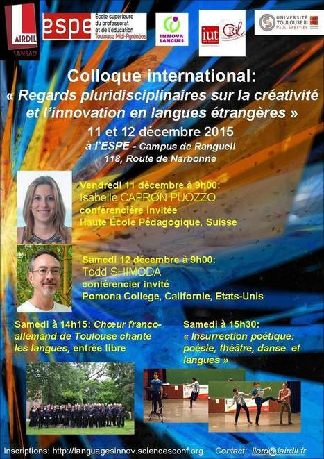 Creation and innovation in FL learning and teaching - Toulouse, Dec | TELT | Scoop.it
