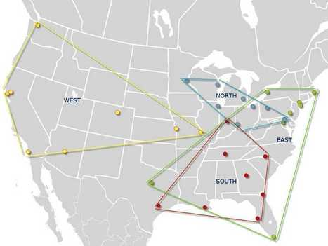 The Four Major Sports Leagues Have Very Different Ideas On Geography | Economic Perspective | Scoop.it