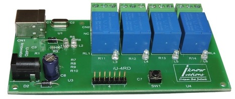 4 channel USB Relay & DAQ board iU-4RD launched. | Serial LCD | Scoop.it