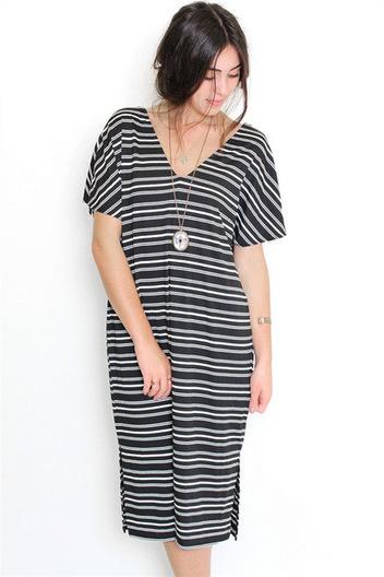 Striped midi dress | Online shopping store | Scoop.it