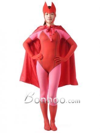 Red and Pink Bat Woman Lycra Superhero Zentai | New superhero costumes on bonhoo.com | Scoop.it