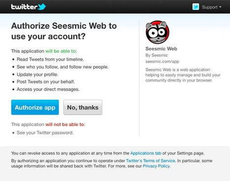 Twitter vous dit maintenant ce que les applications voient de votre profil | Toulouse networks | Scoop.it