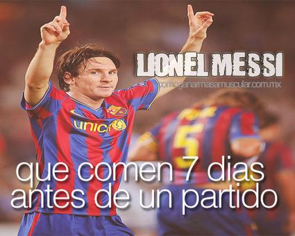 Que Come Messi 7 dias Antes de un Partido | Deportes | Scoop.it