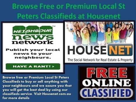Browse Free or Premium Local St Peters Classifieds   Housenet   Scoop.it