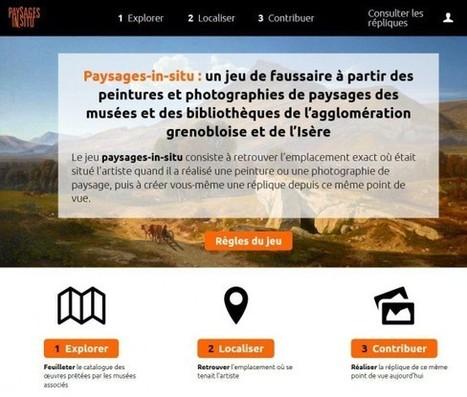 Paysages-in-situ: un jeu sur internet et application mobile pour retrouver les lieux d'inspiration des artistes en Isère | Clic France | Scoop.it