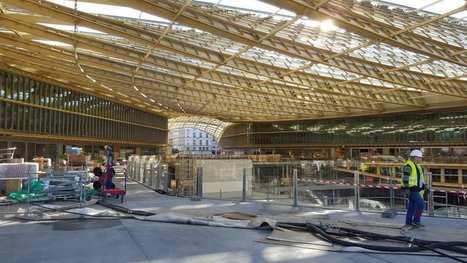 La canopée du Forum des Halles posée, placeaux nouveaux commerces début avril | Dans l'actu | Doc' ESTP | Scoop.it