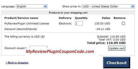 MyReviewPlugin Coupon Code – Vaild 15% Off MyReviewPlugin Discount | MyReviewPlugin Coupon | Scoop.it