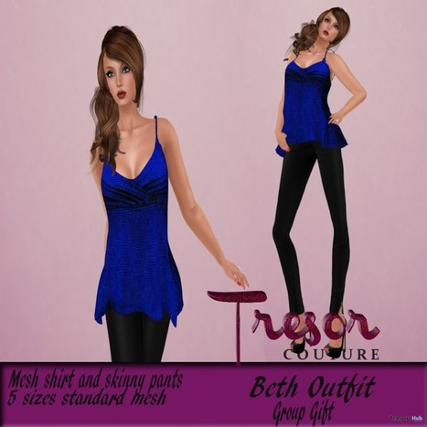 Beth Outfit Group Gift by Tresor Couture | Teleport Hub - Second Life Freebies | Second Life Freebies | Scoop.it