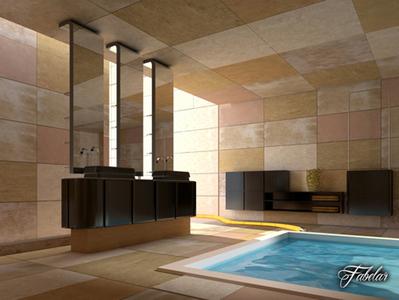 Piscine d'intérieur 3D | 3D Library | Scoop.it