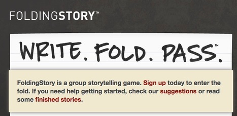 FoldingStory | The Group Storytelling Game | Language,literacy and numeracy in all Training and assessment | Scoop.it
