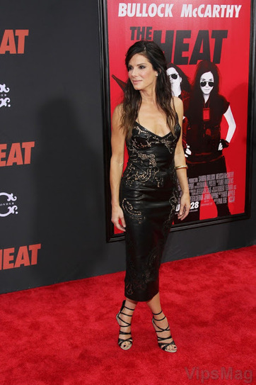 Sandra Bullock sexy black leather outfit at The Heat premiere   VipsMag   Sexy Pics   Scoop.it