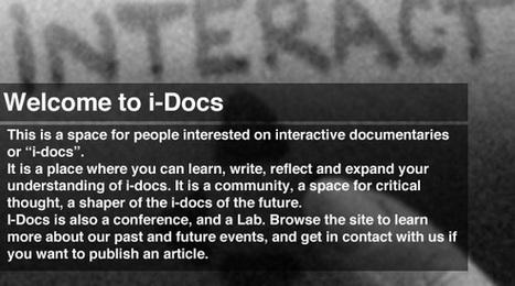 i-docs   interrogating the field of interactive documentary   Interactive Documentary   Scoop.it