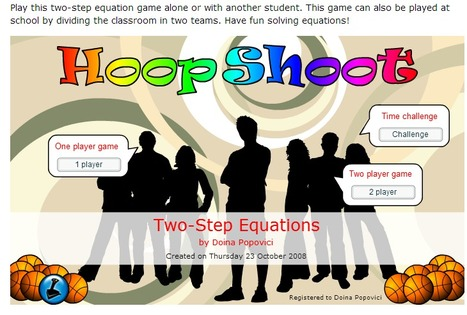 Two Step Equation Game | Math sites for Middle Schoolers | Scoop.it