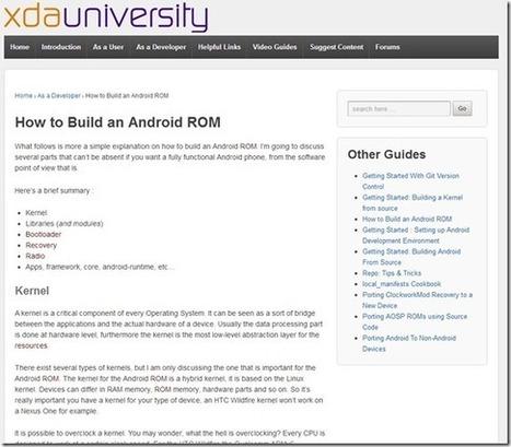 XDA-University, un lugar donde aprender sobre Android y XDA « El Android Libre | apps educativas android | Scoop.it