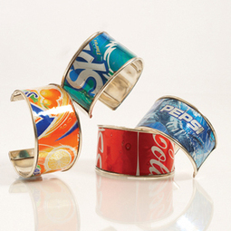 How to Make Recycled Soda Pop Can Bracelets & Jewelry | recycled soda cans | Scoop.it
