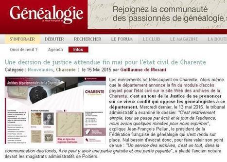 Article du jour (165) : justice en Charente | CGMA Généalogie | Scoop.it