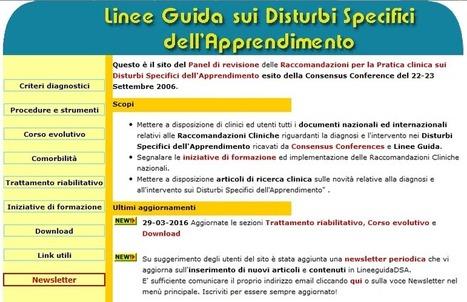 Nuovi materiali sul sito www.lineeguidadsa.it | Dislessia e Tecnologia | Scoop.it