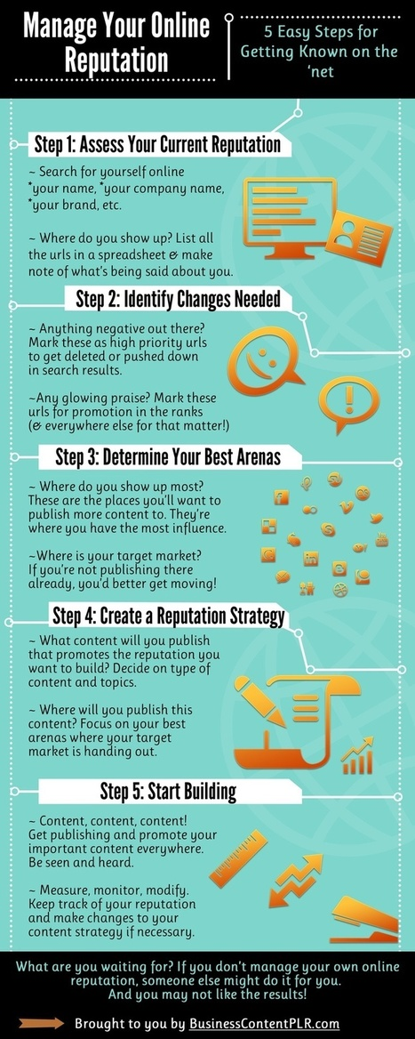 Manage Your Online Reputation [infographic] | Online Trust, Reputation and Values | Scoop.it