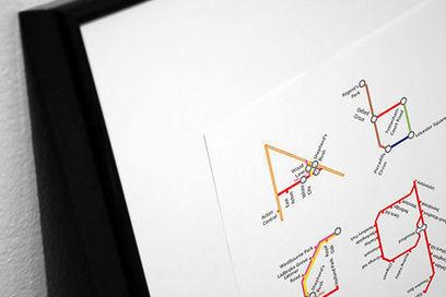 Actualité / L'alphabet en lignes de métro / étapes: design & culture visuelle | Typography, graphisme & curiosités graphiques | Scoop.it
