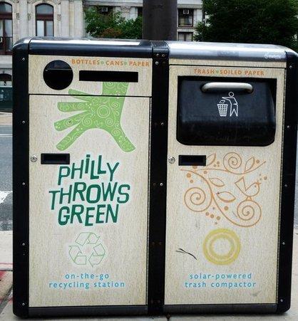 Des poubelles à énergie solaire à Philadelphie | CRAKKS | Énergie et + | Scoop.it
