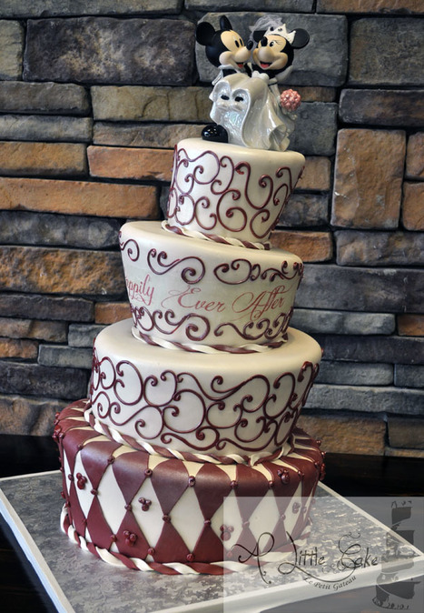 Mickey Mouse Topsy Turvy Wedding Cake | Custom Cakes for You | Scoop.it