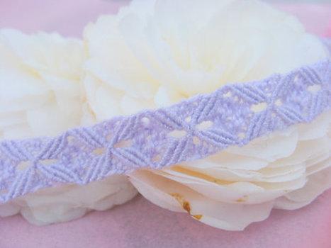 Choker/Macrame Choker/Lace Choker/Lilac Handmade Macrame Lace Choker/Collarino | Fiber Arts | Scoop.it