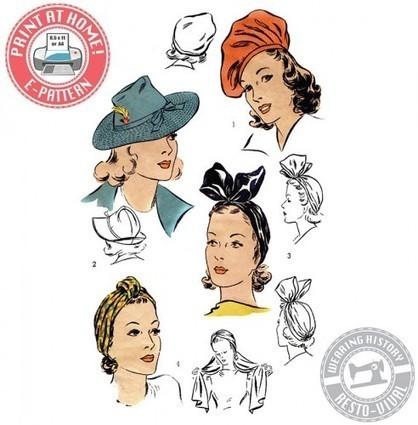 New Pattern Time! 1940′s Hats | Wearing History | Womens' Hats | Scoop.it