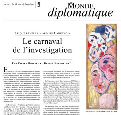 «Affaire Cahuzac», le carnaval de l'investigation | DocPresseESJ | Scoop.it