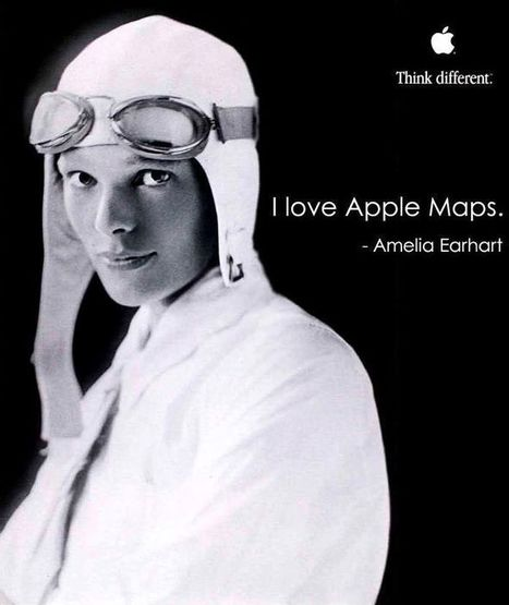 Amelia Earhart Think Different Campaign reimagined for 2012 | A Cultural History of Advertising | Scoop.it