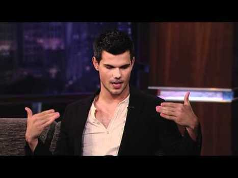 Taylor Lautner talks creepy fans, wet cement on 'Jimmy Kimmel' (video) - Examiner.com | The Twilight Saga | Scoop.it