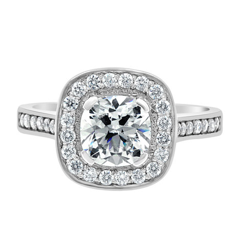 Elle (claw) engagement ring is a round brilliant diamond with a holo | Engagement Rings Dublin. | Scoop.it