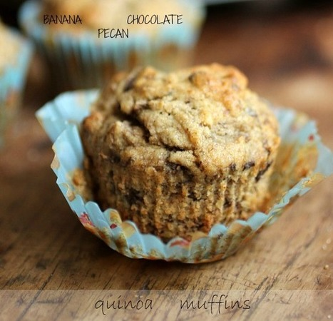 Banana Chocolate Pecan Quinoa Muffins - Gluten Free: Vintage Kitchen Notes   Gluten Sensitive   Scoop.it
