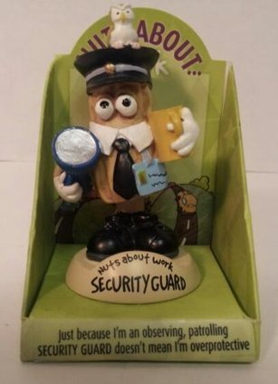 Nuts About Work Security Guard Mini Bobble Head | hotsales | Scoop.it
