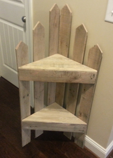 pallet corner shelf 1001 pallets ideas s